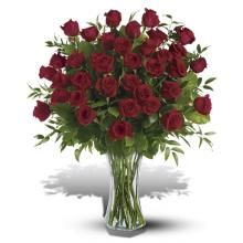 3 Dozen deep red Roses