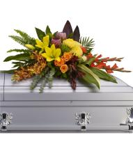 Island Memories Casket Spray by Teleflora