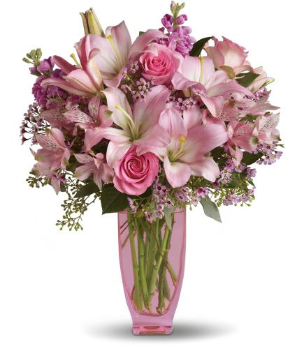 Pink Pink Bouquet with Pink Roses