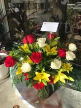 roses,lilies and gerberas