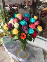 mixed colors of 24  roses