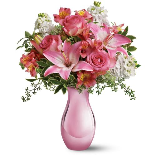 Pink Reflections Bouquet with Roses