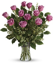 HEY GORGEOUS PURPLE ROSE BOUQUET