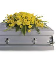 Graceful Grandeur Casket Spray by Teleflora
