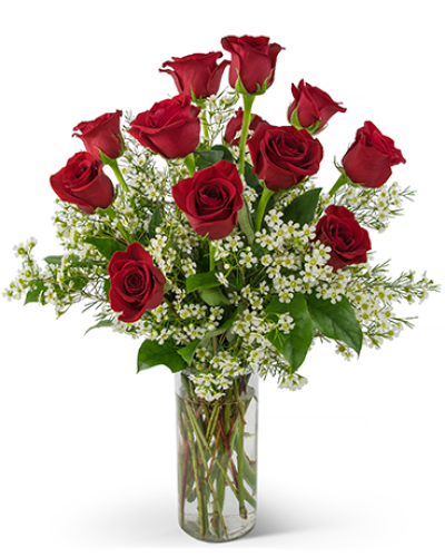 red roses with beautiful unique filler &  foliage