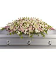 Always Adored Casket Spray by Teleflora